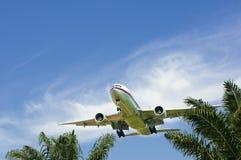 Boeing 777-2H6(ER)  Ready for Landing Stock Photos