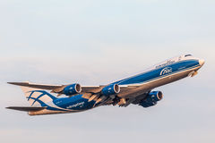 Boeing 747-8HVF do AirBridgeCargo Fotografia de Stock