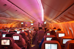 Boeing 777 interior Royalty Free Stock Images