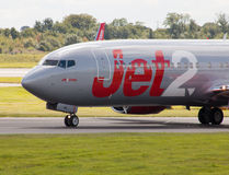 737 boeing jet2 Arkivfoto