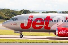 737 boeing jet2 Royaltyfria Foton