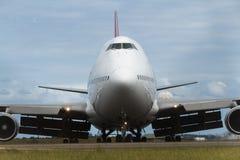Boeing 747 jumbo jet close up Royalty Free Stock Photos