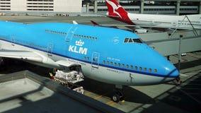 Boeing 747 Jumbo. KLM Royal Dutch Airlines. San Francisco International Airport, USA. September 29, 2017 Stock Photo