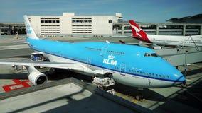 Boeing 747 Jumbo. KLM Royal Dutch Airlines. San Francisco International Airport, USA. September 29, 2017 Stock Image