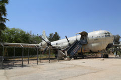 The Boeing KC-97 Stratofreighter Masada at the Israeli Air Force Museum. HATZERIM, ISRAEL - MAY 2, 2017: The Boeing KC-97 Stratofreighter Masada at the Israeli Royalty Free Stock Photo