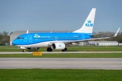 737 boeing klm Royaltyfri Bild