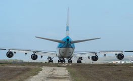 747 boeing klm Royaltyfria Foton