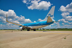 737 boeing klm Arkivbild