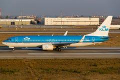 737 boeing klm Royaltyfri Foto
