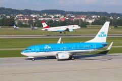 Boeing-737 KLM Imagem de Stock Royalty Free