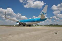 737 boeing klm Fotografering för Bildbyråer