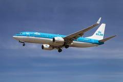 737 boeing klm Arkivfoto