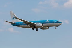 Boeing 737 Klm landing Stock Photography