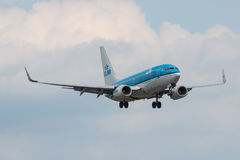 Boeing 737 Klm-landning Arkivfoton