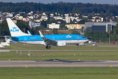Boeing-737 KLM Stock Photo