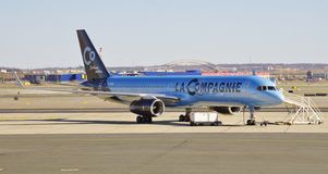 A Boeing 757 from La Compagnie (B0) Royalty Free Stock Photography