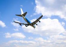 Boeing 747 lading het landen Stock Fotografie