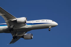 Boeing 787. Landing to Haneda International Airport, Japan Stock Photography