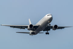 Boeing 767-300. Landing to the Haneda International Airport, Japan Royalty Free Stock Photo
