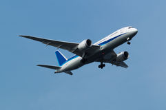 Boeing 787-8. Landing to the Haneda International Airport, Japan Stock Image