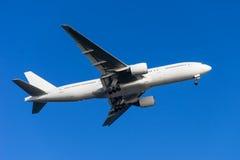 Boeing 777-200. Landing to the Haneda International Airport, Japan Stock Images