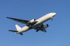 Boeing 777-200. Landing to the Haneda International Airport in Tokyo, Japan Stock Photo