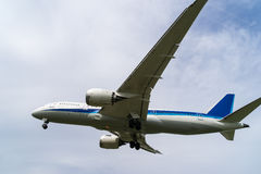 Boeing 787-8. Landing to the Itami International Airport in Osaka, Japan Stock Image