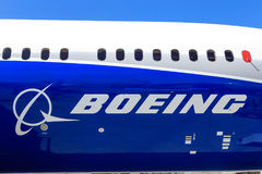 Boeing lettering and logo Royalty Free Stock Photo