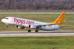 Boeing 737 lignes aériennes de Pegasus Photographie stock