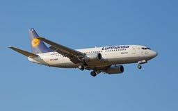 Boeing-737 Lufthansa Royaltyfria Bilder