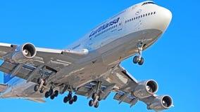 400 747 Boeing Lufthansa Zdjęcie Stock