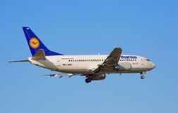 Boeing-737 Lufthansa Royalty Free Stock Photo