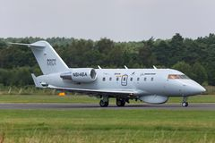 Boeing Maritime Surveillance Aircraft Boeing MSA based on the Bombardier CL-600 business aircraft. Farnborough, UK - July 18, 2014: Boeing Maritime Surveillance stock images