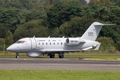 Boeing Maritime Surveillance Aircraft Boeing MSA based on the Bombardier CL-600 business aircraft. Farnborough, UK - July 18, 2014: Boeing Maritime Surveillance royalty free stock photography
