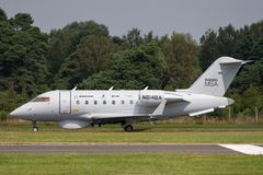 Boeing Maritime Surveillance Aircraft Boeing MSA based on the Bombardier CL-600 business aircraft. Farnborough, UK - July 18, 2014: Boeing Maritime Surveillance stock photos