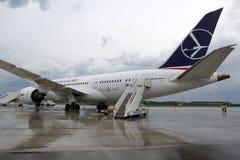 Boeing marqué par SORT 787 Dreamliner Image stock