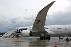 Boeing marqué par SORT 787 Dreamliner Photo libre de droits