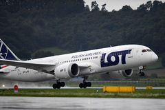Boeing marqué par SORT 787 Dreamliner Images libres de droits