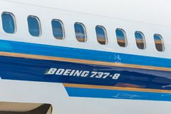 Boeing 737-8 maximum zuidelijk China, luchthaven Pulkovo, Rusland heilige-Petersburg 02 Juni 2018 royalty-vrije stock foto