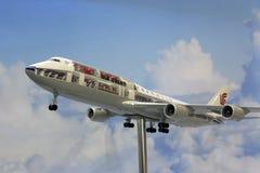 Boeing 747 modell Arkivbilder