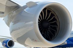 Boeing 747-400 moteurs Photographie stock libre de droits