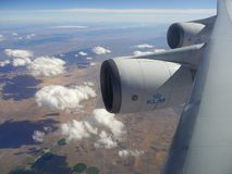 Boeing 747 motorer Royaltyfri Foto