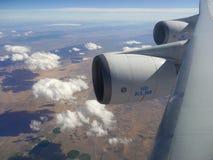 Boeing 747 motori Fotografia Stock Libera da Diritti