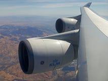 Boeing 747 motori Fotografie Stock