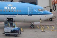 Boeing 737 na rampa Fotografia de Stock Royalty Free
