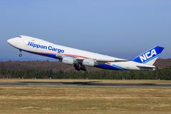 Boeing 748 from NCA Royalty Free Stock Image