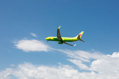 Boeing 737 Next Gen S7 Siberia Airlines taking off at Tivat Airport, Montenegro. Stock Images