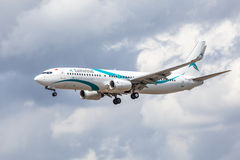 Boeing 737 Next Gen of the Tailwind Airlines Stock Photos