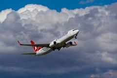 Boeing 737 nivå Royaltyfria Bilder