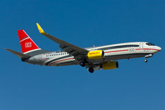 Boeing 737 nivå Arkivfoto